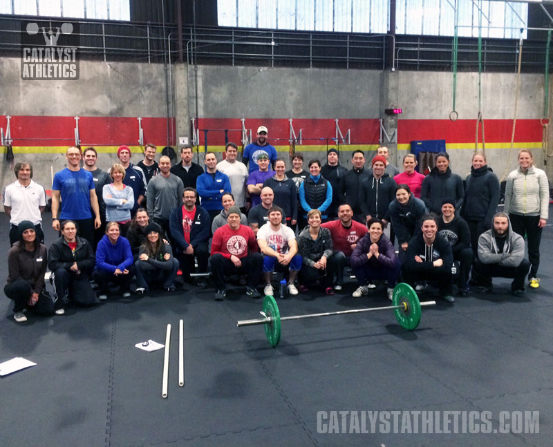 Olympic Weightlifting seminar at CrossFit Seattle February 2014