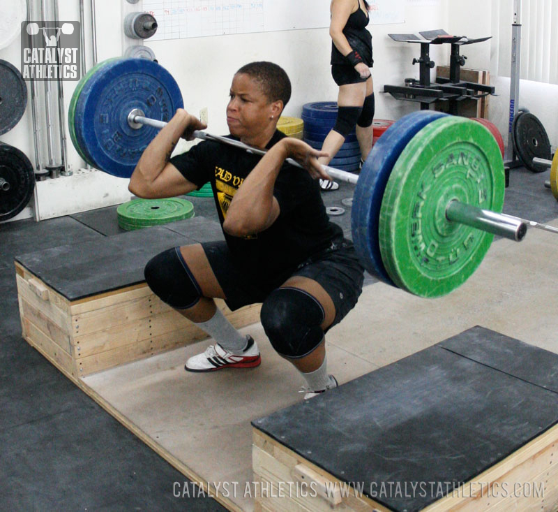 Tamara block clean - Olympic Weightlifting, strength, conditioning, fitness, nutrition - Catalyst Athletics