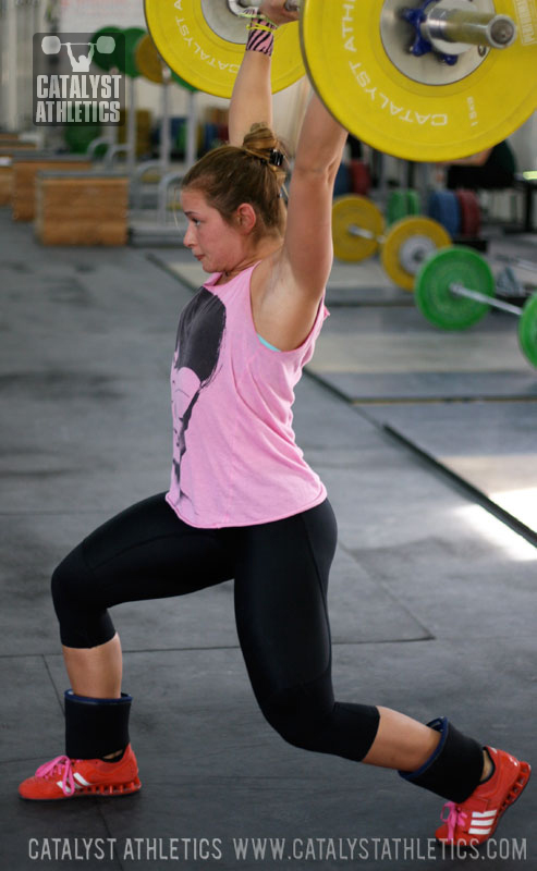 Jessica Jerk Balance - Olympic Weightlifting, strength, conditioning, fitness, nutrition - Catalyst Athletics