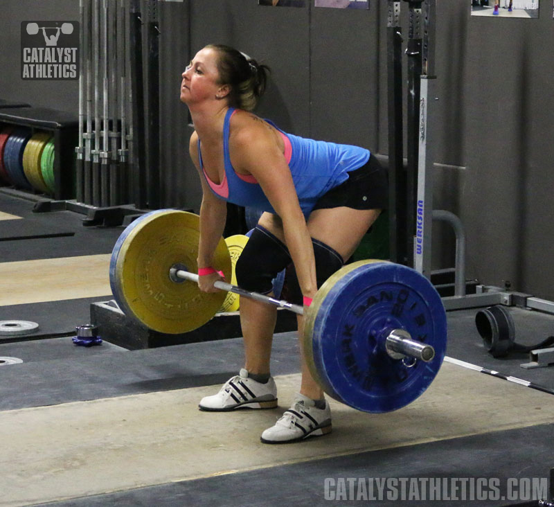 Aimee Clean Pull - Olympic Weightlifting, strength, conditioning, fitness, nutrition - Catalyst Athletics