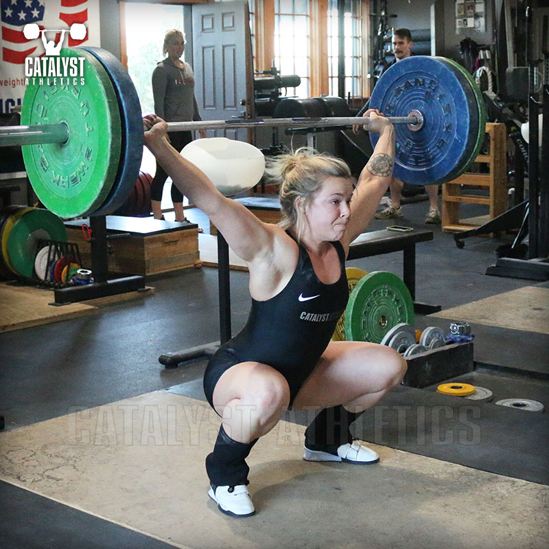 Carly snatch - Olympic Weightlifting, strength, conditioning, fitness, nutrition - Catalyst Athletics