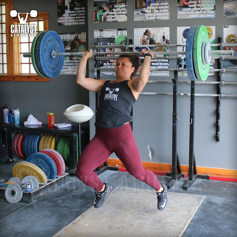 Steph jerk - Olympic Weightlifting, strength, conditioning, fitness, nutrition - Catalyst Athletics