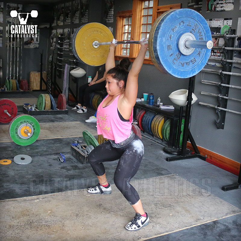 Lily power jerk - Olympic Weightlifting, strength, conditioning, fitness, nutrition - Catalyst Athletics