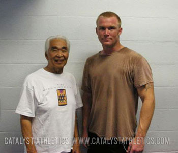 Our good buddy Mike with Tommy Kono