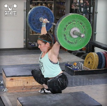 Lindsay block snatch - Olympic Weightlifting, strength, conditioning, fitness, nutrition - Catalyst Athletics