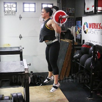 Laura back squat jump - Olympic Weightlifting, strength, conditioning, fitness, nutrition - Catalyst Athletics