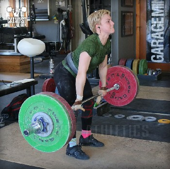 Amanda clean pull - Olympic Weightlifting, strength, conditioning, fitness, nutrition - Catalyst Athletics
