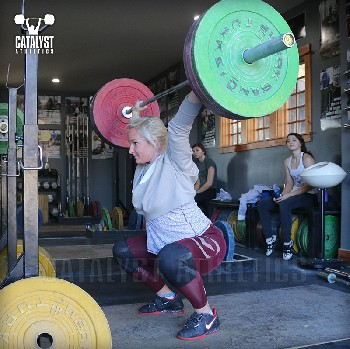 Sarabeth overhead squat - Olympic Weightlifting, strength, conditioning, fitness, nutrition - Catalyst Athletics
