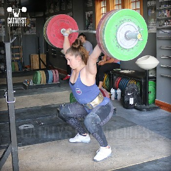 Mattie snatch balance - Olympic Weightlifting, strength, conditioning, fitness, nutrition - Catalyst Athletics