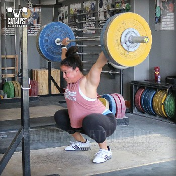 Laura overhead squat - Olympic Weightlifting, strength, conditioning, fitness, nutrition - Catalyst Athletics
