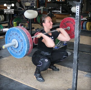 Caitlin front squat - Olympic Weightlifting, strength, conditioning, fitness, nutrition - Catalyst Athletics