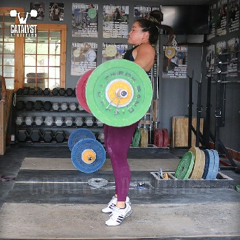 Laura power clean - Olympic Weightlifting, strength, conditioning, fitness, nutrition - Catalyst Athletics