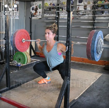Nicole back squat - Olympic Weightlifting, strength, conditioning, fitness, nutrition - Catalyst Athletics
