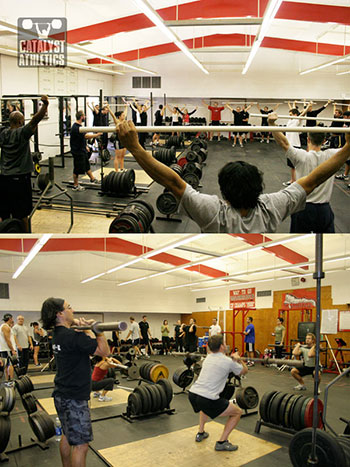 Olympic Weightlifting clinic at Fallbrook High School - Olympic Weightlifting, strength, conditioning, fitness, nutrition - Catalyst Athletics