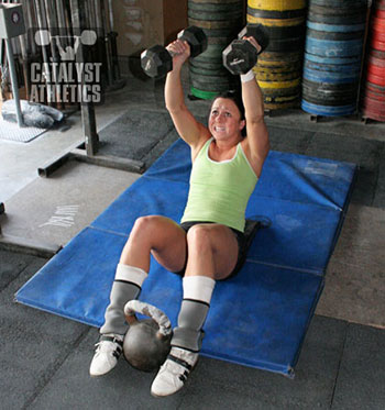 Overhead sit-ups - Olympic Weightlifting, strength, conditioning, fitness, nutrition - Catalyst Athletics